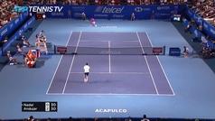 Nadal se deshace en dos sets (6-3 y 6-2) a Pablo Andújar en Acapulco