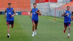 Simeone recupera a Giménez, Llorente y Cunha para el duelo ante el Liverpool