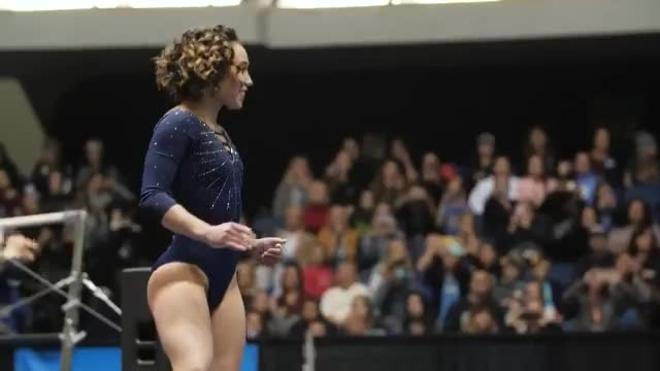 La increíble rutina de la gimnasta sorprende al mundo