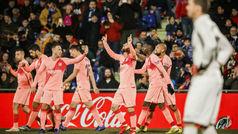 LaLiga (J18): Resumen y goles del Getafe 1-2 Barcelona