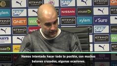 """Guardiola: """"Es una pena perder dos puntos de esta manera"""""""