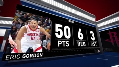 Eric Gordon se disfraza de 'La Barba' Harden: ¡50 puntos!