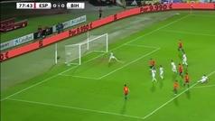 Debut y gol: así fue el tanto de Brais a Bosnia