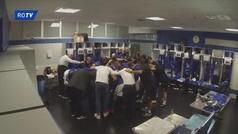 Así se motivó el Oviedo antes de salir al campo y ganar al Sporting