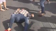 Lamentable agresión a una mujer por exhibir la bandera española en una marcha independentista