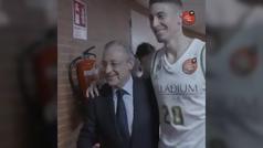 """La habitual felicitación de Florentino Pérez: """"Jaycee, ven aquí y dame un abrazo"""""""