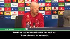"""Ten Hag: """"Imagino que De Jong tendrá una motivación extra"""""""