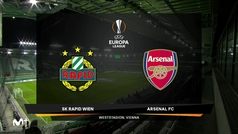 Europa League (J1): Resumen y goles del Rapid Viena 1-2 Arsenal