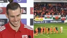 La respuesta de Bale al cántico de 'Gales, golf, Madrid'