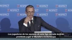 La UEFA anuncia que los jugadores que disputen la Superliga no podrán competir en Eurocopas y Mundia
