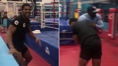 Así perdió 10.000 libras Anthony Joshua por una apuesta en un gimnasio