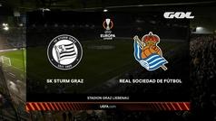 Europa League (J3): Resumen y goles del Sturm Graz 0-1 Real Sociedad