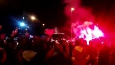 Espectacular recibimiento en Girona a los 'héroes del Bernabéu'