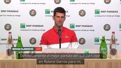 """Djokovic: """"Uno de los tres mejores partidos de mi carrera"""""""