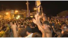 Celebraciones imprudentes en Cádiz tras el ascenso del equipo a Primera