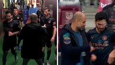 Con Guardiola, 15 minutos de descanso no son suficientes: sigue y sigue en el túnel, en el campo...