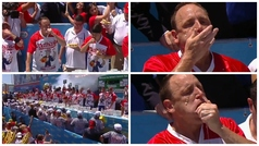 Joey Chestnut se come 71 Hot Dogs en 10 minutos