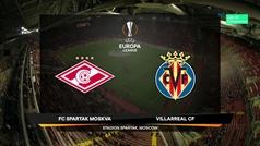 Europa League (J2): Resumen y goles del Spartak Moscú 3-3 Villarreal