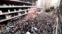 La manifestación contra Peter Lim llega a Mestalla