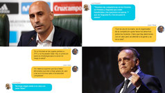 Twitter escenifica la guerra la Federación y La Liga