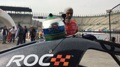 Memo Rojas realiza el reconocimiento de la pista de Race Of Champions