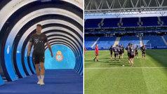 El Bayern amanece sonriente en Barcelona y se entrena... ¡en el RCDE Stadium!