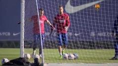 El Barcelona se entrena sin once de sus internacionales que están con sus selecciones