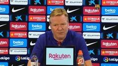 "Koeman: ""No sé si después de lo que dijo Messi tendré una vida tranquila"""