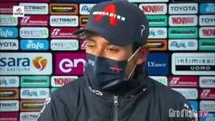 Así se derrumbó Bernal tras ganar en Campo Felice y ponerse la 'maglia'