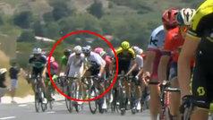 El manotazo de Gianni Moscon que le ha costado la expulsión del Tour