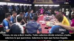 """El emotivo discurso de Pogba antes de la gran final: """"Quiero ver lágrimas de alegría"""""""