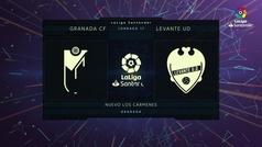 MX: LaLiga (J17): Resumen y goles del Granada 1-2 Levante