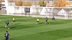 El Madrid golea al Castilla en un partido de entrenamiento en Valdebebas