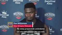 """Zion Williamson, sobre su radical cambio físico: """"Me estoy preparando"""""""