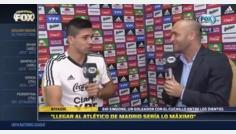 """Gio Simeone: """"Mi 'viejo' nunca me habló del Atlético... para mí llegar sería lo máximo"""""""