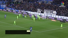 Gol de Laguardia (1-0) en el Alavés 2-0 Levante