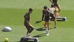 El Atlético entrena en el Wanda para preparar el duelo ante el Barça
