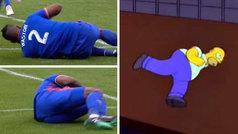 Kendall Watson imita el 'baile de la gallina' de Homer Simpson para dedicarle un gol a su hijo