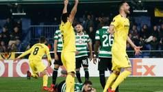 Europa League (1/16, vuelta): Resumen y goles delVillarreal 1-1 Sporting Portugal