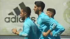 Así fue el último entrenamiento del Real Madrid para el partido contra el Athletic