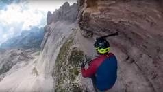Ciclismo de vértigo: Recorre una vía ferrata con precipicios de 600 metros