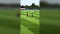 """Jesé presume de entrenamiento con Mbappé: """"No paramos"""""""