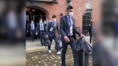 Así fue la salida del Real Madrid desde el hotel hasta Anfield
