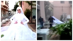 La explosión de Beirut que sintió una novia durante una sesión de fotos