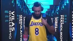 La entrada de Kyrgios para jugar contra Nadal homenajeando a Kobe Bryant