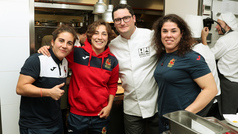 El restaurante Álbora estrena sus menús de alta cocina saludable con la selección española de rugby femenino
