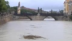 Preocupación en Murcia por la crecida del río Segura a su paso por Murcia