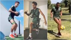 Álex Moreno, Sidnei, Bartra, Borja Iglesias... así se han entrenado hoy en casa los jugadores del Be