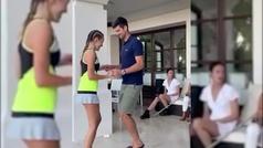 La mujer de Djokovic le felicita por su cumpleños con un vídeo de ambos bailando salsa.