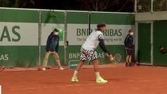 El tremendo enfado de Feliciano López con una pista de Roland Garros